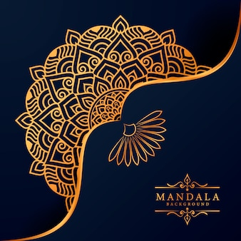 Kwiat luksusowy mandali tło arabeska styl