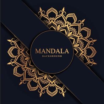 Kwiat luksusu mandali tło arabeska stylu