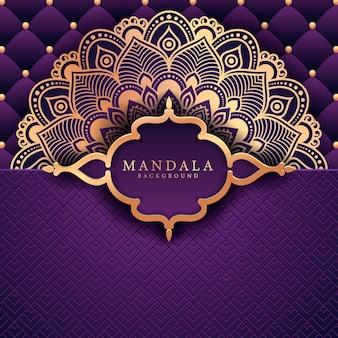 Kwiat luksusu mandali w stylu arabeska