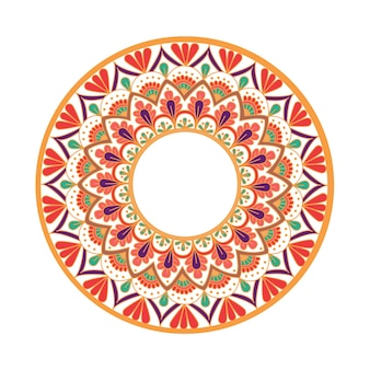 Kwiat mandala vintage elementy dekoracyjne orientalny wzór