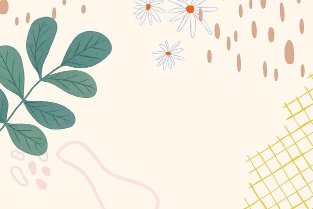 Kwiat memphis linia sztuki abstrakcyjne tło wektor
