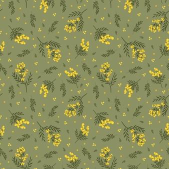 Kwiat mimozy wzór