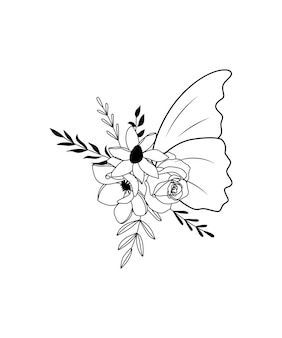 Kwiat motyl rysunek