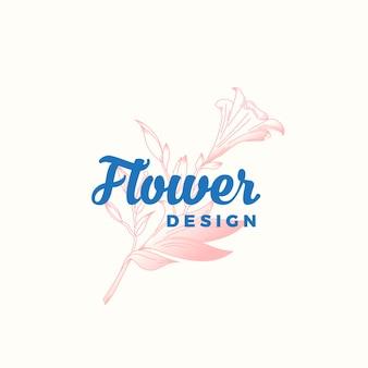 Kwiat projekt streszczenie wektor znak, symbol lub szablon logo.