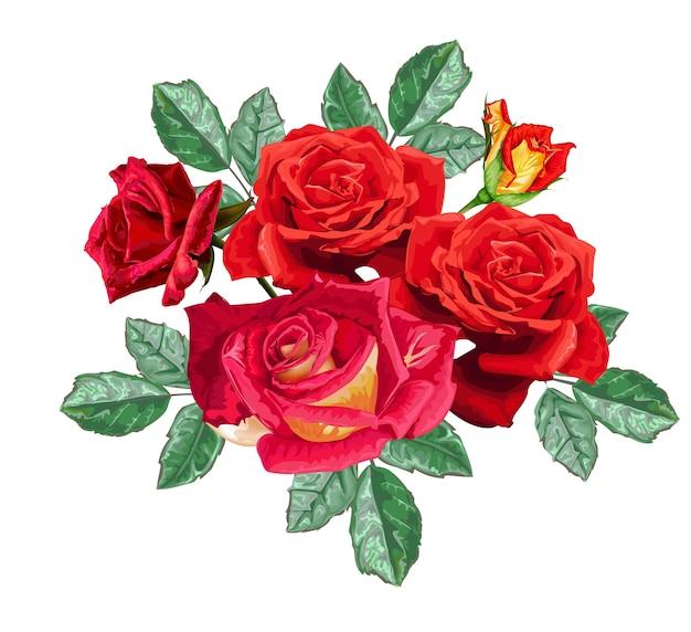 Kwiat róży bukiet