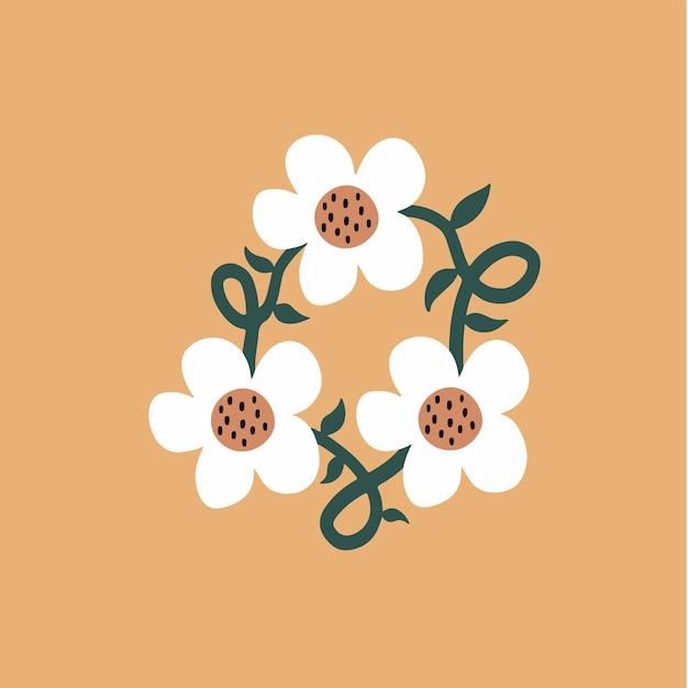 Kwiat symbol mediów społecznościowych post ilustracja wektorowa kwiatów