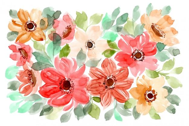 Kwiat tło akwarela