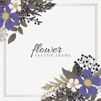 Kwiat w tle - wieniec z czerwonych, jasnoniebieskich, białych kwiatów