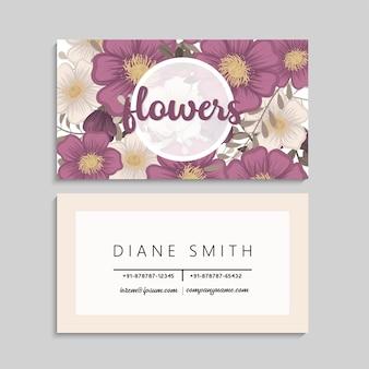 Kwiat wizytówki gorące różowe kwiaty