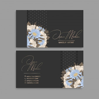 Kwiat wizytówki niebieskie kwiaty