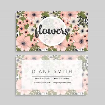 Kwiat wizytówki różowe kwiaty