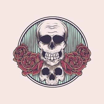 Kwiatowa czaszka