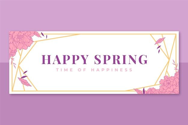 Kwiatowa elegancka wiosenna okładka na facebooka