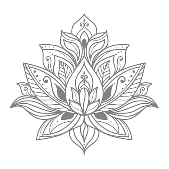 Kwiatowa ilustracja lotosu do dekoracji