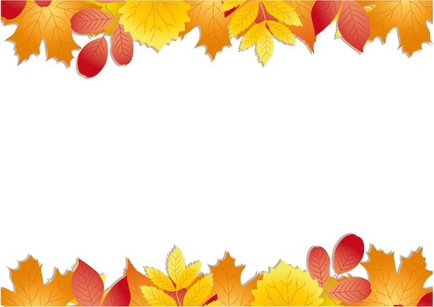 Kwiatowa jesienna rama