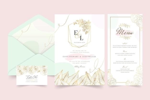 Kwiatowa kolekcja papeterii ślubnej
