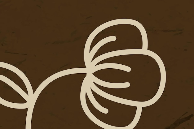 Kwiatowa linia brązowe tło wektor