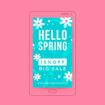 Kwiatowa minimalistyczna wiosenna historia na instagramie