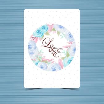Kwiatowa odznaka ślubna z pięknymi niebieskimi różami