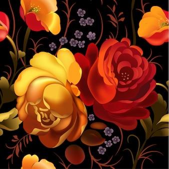 Kwiatowa ozdobna rama w rosyjskim stylu zhostovo.
