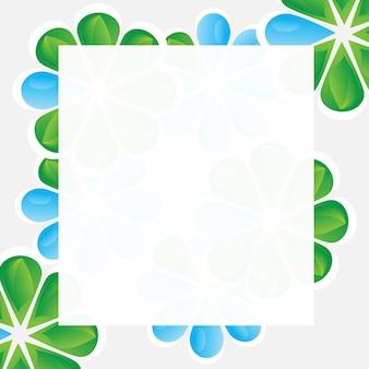 Kwiatowa ramka do projektowania - karta z miejscem na kopię