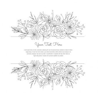 Kwiatowa ramka na ślub