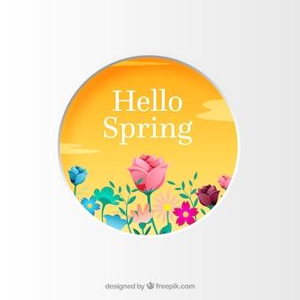 Kwiatowa ramka witaj wiosna