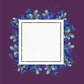 Kwiatowa ramka z białą przestrzenią