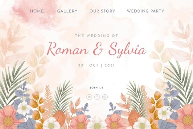 Kwiatowa strona docelowa ślubu