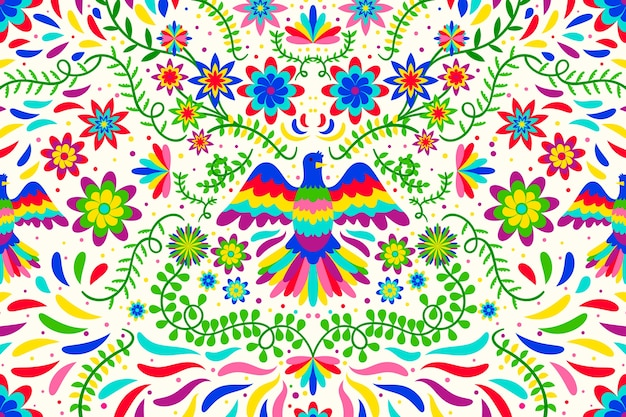 Kwiatowa tapeta meksykańska