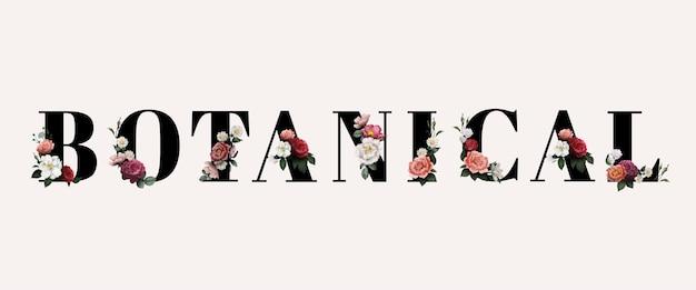 Kwiatowa typografia botaniczna
