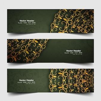 Kwiatowe banery internetowe