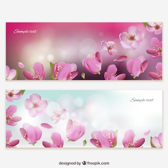Kwiatowe banery