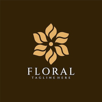 Kwiatowe dekoracyjne piękno luksusowe kwiatowe logo spa natura