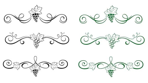 Kwiatowe elementy z winogron