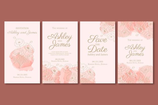 Kwiatowe historie ślubne na instagramie