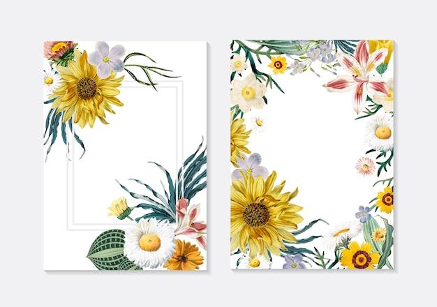 Kwiatowe kartki z życzeniami