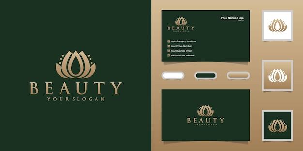 Kwiatowe logo urody dla spa, przyrody, szablonów projektów salonów i wizytówek