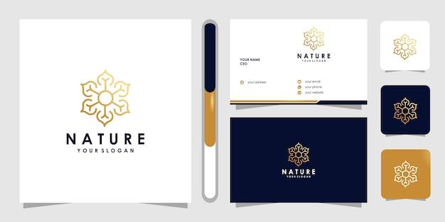 Kwiatowe logo w stylu sztuki linii. logo może być używane do spa, salonu piękności, dekoracji, butiku. i wizytówka