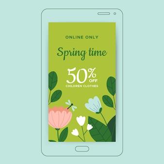 Kwiatowe minimalistyczne wiosenne plakaty