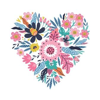 Kwiatowe serce.