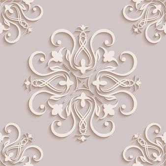 Kwiatowe tapety bez szwu w stylu baroku