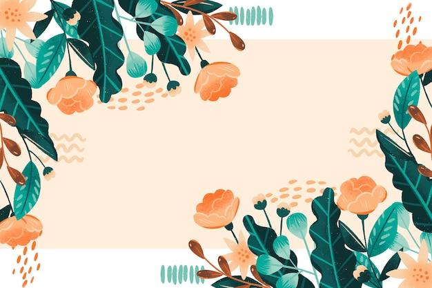 Kwiatowe tło ramki w ręcznie rysowane stylu