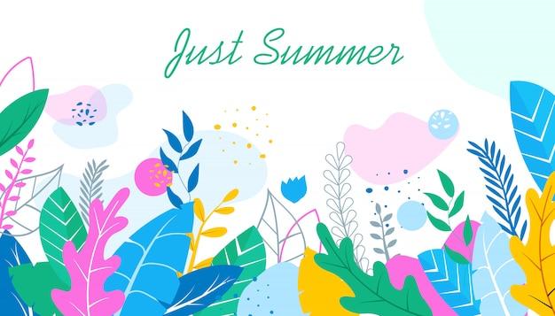 Kwiatowe tło tylko lato