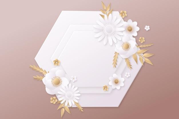 Kwiatowe tło w stylu papieru