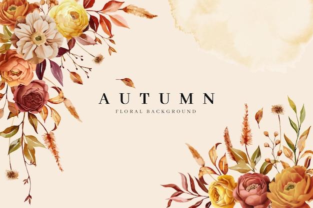 Kwiatowe tło z jesienną naturą