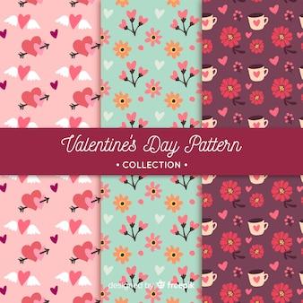Kwiatowe wzory valentine