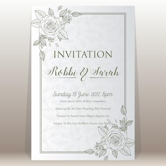 Kwiatowe zaproszenie na wesele