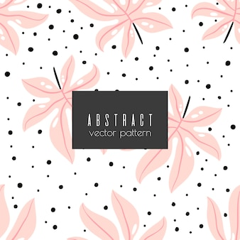 Kwiatowy abstrakcyjny wzór bez szwu