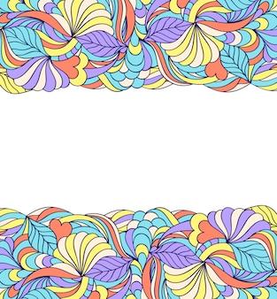 Kwiatowy abstrakcyjny wzór